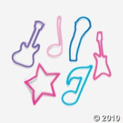 Fun Bandz Rock Star and Musical Shaped Elastic Bands For Kids