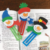 Snowman Christmas Craft BookMark  Kit
