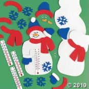 Snowman Christmas Craft Kit Make A Snowman Thermometer Craft Project for Kids