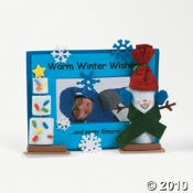 Marshmallow Snowman Photo Frame Craft Kit For Kids