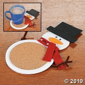 Snowman Coaster Craft Kits for Kids
