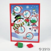 Snowman Toss Game makes a great game for a kids party...winter, birthday or holiday.