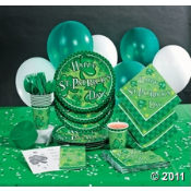 St. Patrick's Day Basic Party Pack full of the party supplies you need for your Lucky party ideas.