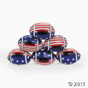 Stars and Stripes Footballs.  Perfect for any football party, Super Bowl party, or 4th of July party favor ideas.
