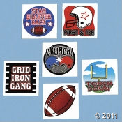 Get Temporary Tattoos For Your Football or Superbowl Parties!