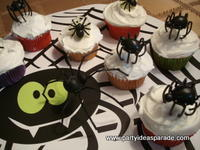 Pictures of Spider Halloween Cupcakes You Can Make With Cupcake Decorations