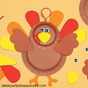 Make this fun paper plate project with your kids.  It's easy to make a turkey using paper plates and construction paper.