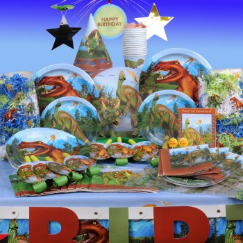 Dinosaur Party Supplies and Accessories for a kids birthday party