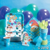 Snowman Party Pack  Party Supplies For A Snowman Theme Party