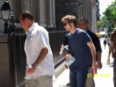 Pictures we took of Robert Pattinson at the Remember Me set