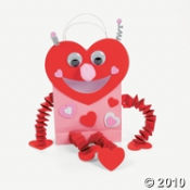 How is this Luv Bug Valentine Card Holder Bag to use as one of your unique ideas for Valentines Day.