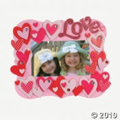 Photo Frame Kits are always fun to make as a Valentine Party Craft Project.