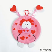 I love paper plate craft kits especially this cute Valentines Day one...it has the cutest monster on it.