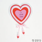 An I LOVE YOU Magnet craft kit is perfect for a Valentines Day party craft project.