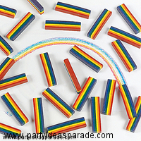 Wizard of Oz Rainbow Crayons are the perfect kids birthday party favor at a Wizard of Oz party