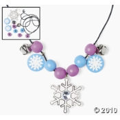 This Wooden Beaded Snowflake Necklace Craft Kit For Kids Is A Great Craft Project For A Kids Party.
