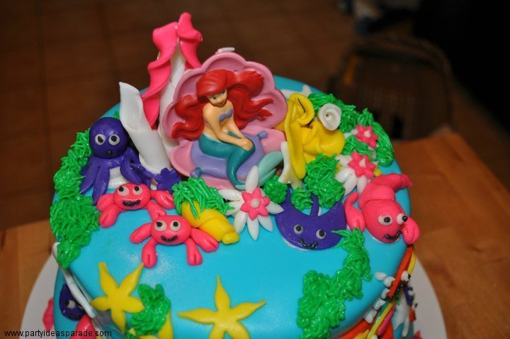 Look at this fondant cake with Ariel, the Little Mermaid.  If you live in New Jersey near Metuchen you can order this cake!