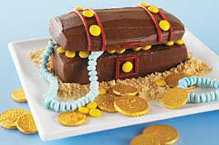 Hidden Pirate Treasure Chest Birthday Cake Designs