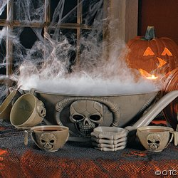 Skull Halloween Punch Bowl Set and Halloween Punch Recipes