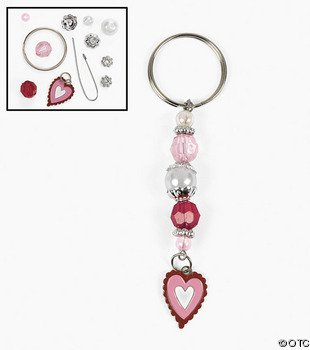 Beaded Key Chain Valentines Craft Ideas for kids