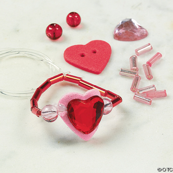 beaded ring craft kit Valentine Craft Ideas for kids