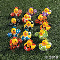 Cheerleader Rubber Duckies are a great idea for a girls party favor.
