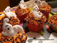 Ghost Halloween Cupcake Ideas
