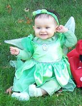 Disney Costumes, like this little Tinkerbell outfit, are always very popular kids Halloween costumes!