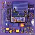 Scrapbook Paper and Supplies Kit for Halloween
