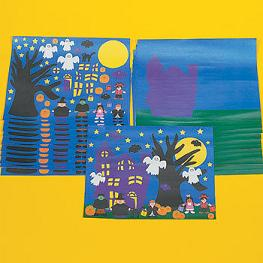 Look at the FUN Halloween Craft Projects For Kids you can find at the Oriental Trading Company.  They are great for a Halloween party!