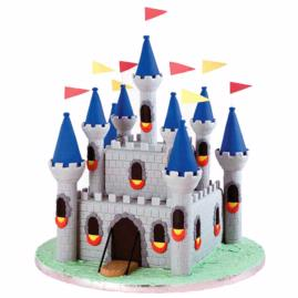 Make A Medieval Castle Cake For Your Knight Birthday Party.  Kids Will Love This Knight Cake.