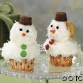 Make Snowman Cupcakes with our Cupcake Decorating Ideas