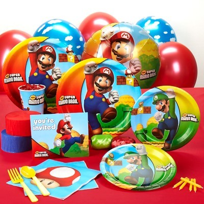 Get Your Kids Party Supplies Like These Mario Bros Party