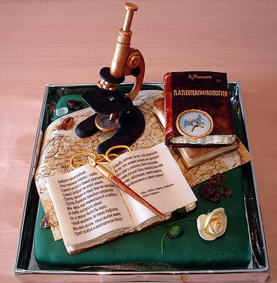 This Microscope Cake is one of those amazing cakes people are talking about.  Look at the detail in this cake design.