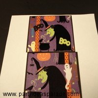 Here are Two Homemade Halloween Cards with A Witch on  them.