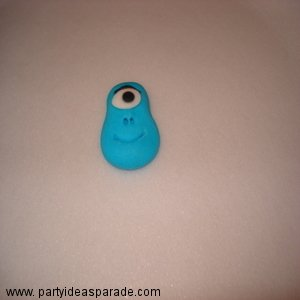 Blue One Eyed Monster - How to make Fondant Shapes