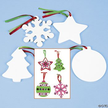 paint your own Christmas ornaments it's easy for kids