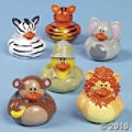 Safari Rubber Duckies   Kids love wild animals and these duckies make a great kids party favor and theme idea!
