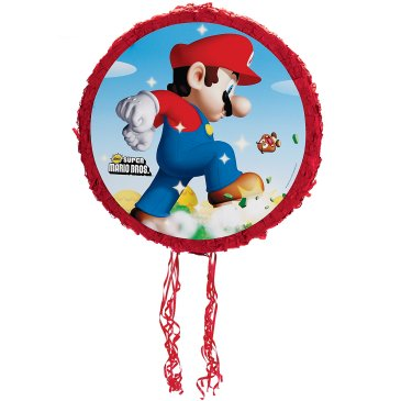 Super Mario Brothers Pinata is a fun kid party game.