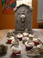 Make some scary Halloween cupcakes and get some scary Halloween costumes.